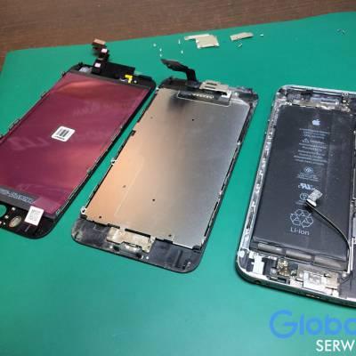 Uszkodzony wyświetlacz w iPhone 6 PLUS.
